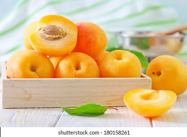 fresh apricot and jam