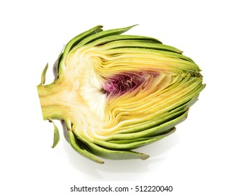 Fresh Artichokes isolated on white background