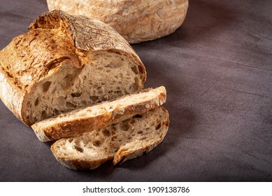 Fresh artisan bread on the table