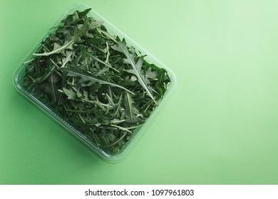 Fresh arugula leaves, rucola.Vegetarian, dieting,organic food