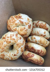Fresh Asiago cheese bagels