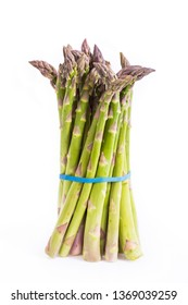 Fresh asparagus isolated on the white background