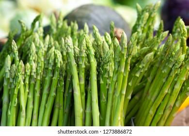 Fresh Asparagus in market