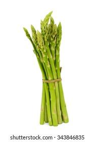 fresh asparagus officinalis isolated on white background