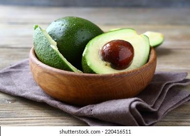 Fresh avocado in a bowl, fruit