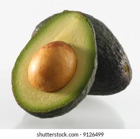 fresh avocado half green ripe