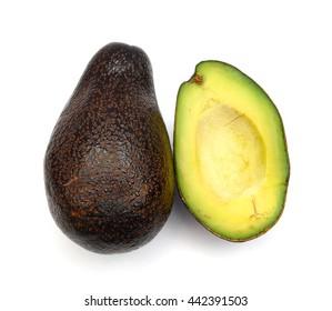 fresh avocado isolated on white