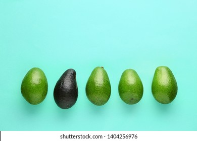Fresh avocado on color background