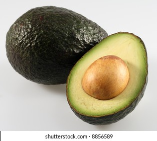 Fresh Avocado Sliced with Seed and Ready to Eat