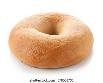 Fresh bagel isolated on white background