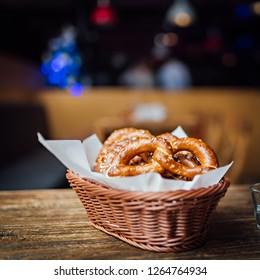 Fresh baked homemade trafitional pretzels