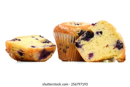 A fresh baked muffins, with blueberry