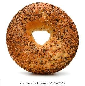 Fresh Baked Sesame Bagel Isolated