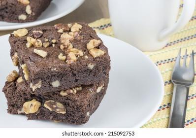 Fresh baked Walnut Brownies