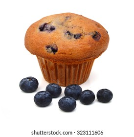 A fresh baking blueberry muffin