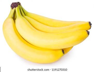 fresh banana isolated on white background