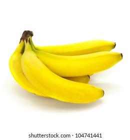 Fresh Bananas Isolated on White