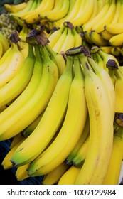 Fresh Bananas in the Market