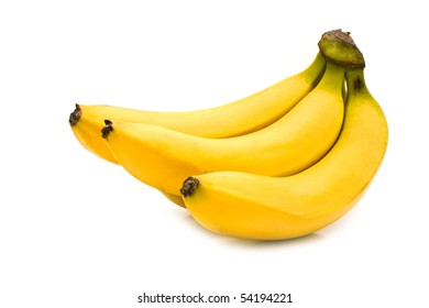 fresh bananas on a white background for your illustrations
