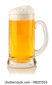 fresh beer in glass