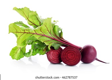 Fresh beetroot isolated on white background. Close up.