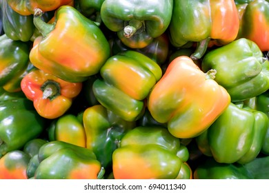 fresh bell pepper or capsicum, sweet pepper