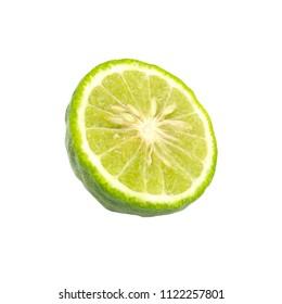 Fresh bergamot fruit  isolated on a white background