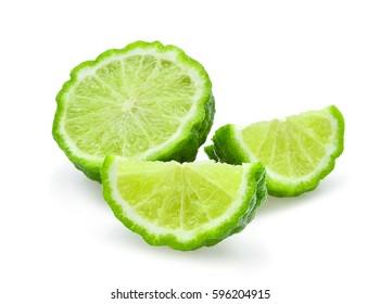 fresh bergamot isolated on white background