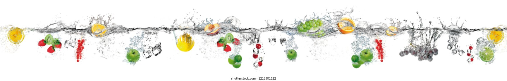 Fresh berries and fruits make sprays from falling.