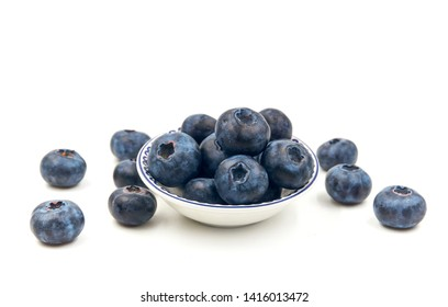 Fresh berries isolated on white background.