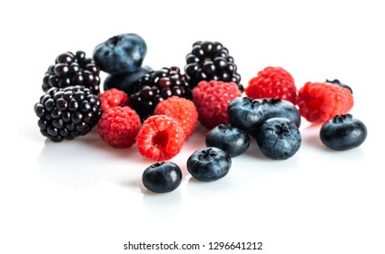 Fresh Berries on the White Background.