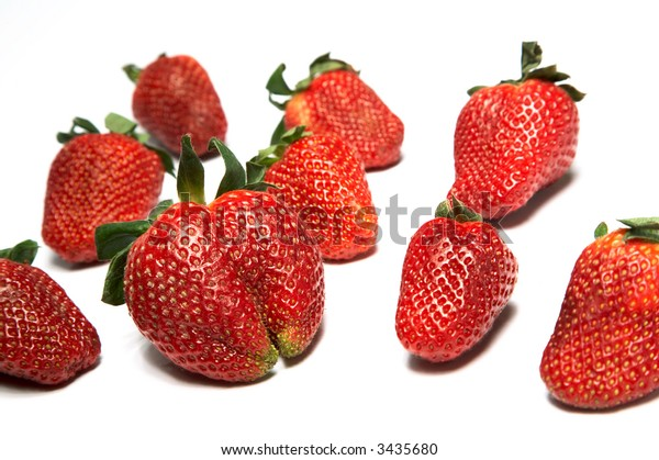 Fresh berries a strawberry on a white background