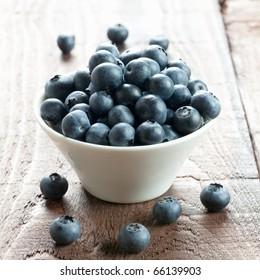fresh bilberries in a bowl
