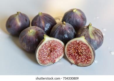 Fresh black fig