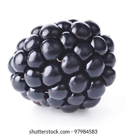 Fresh blackberry on white background