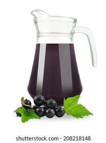 fresh blackcurrant juice