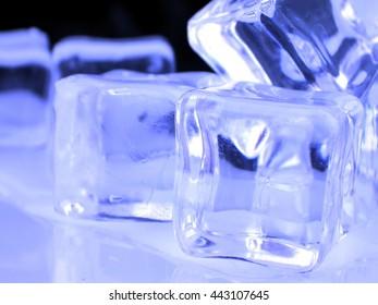 Fresh Blue Ice cubes