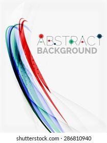 Fresh blue and red wave line. Abstract background