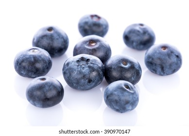 Fresh blueberries, isolated on white