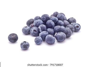 fresh blueberries studio isolated on white