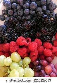 Fresh blueberries,blackberries, raspberries and grapes