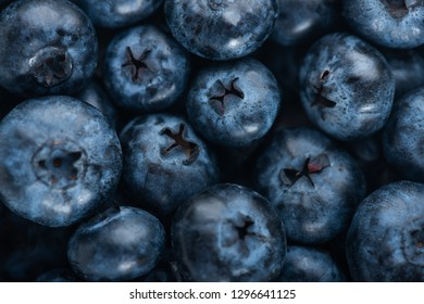 Fresh blueberry background. Texture blueberry berries close up