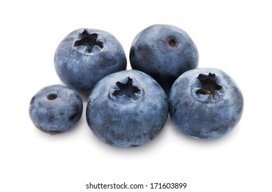 Fresh blueberry or bilberry  isolated on white background