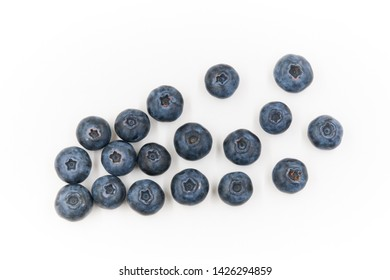 Fresh of Blueberry fruit isolated on white background