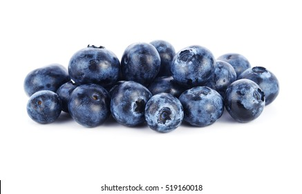 fresh blueberry fruits on white background