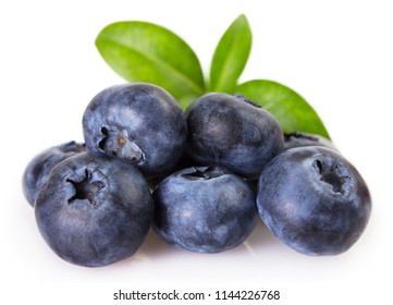 fresh blueberry isolated on white background