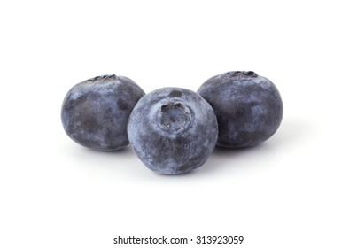 Fresh blueberry isolated on white background closeup