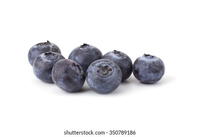 Fresh blueberry isolated on white background closeup