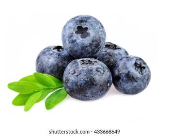 Fresh Blueberry. Organic blueberry isolated on white background.