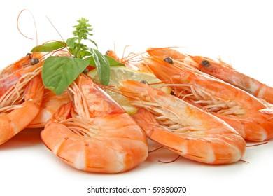 fresh boiled shrimp